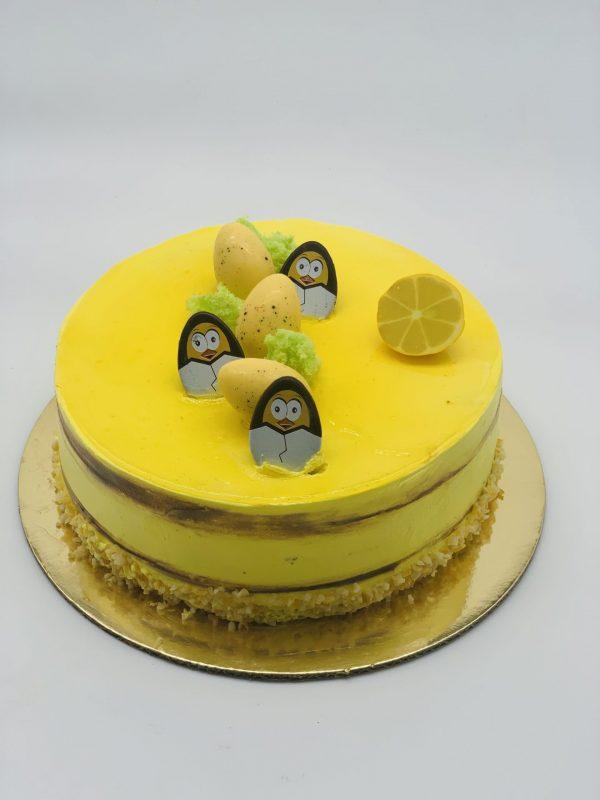 """""""Citrininis"""" - biskvitinis tortas su citrininiu kremu"""