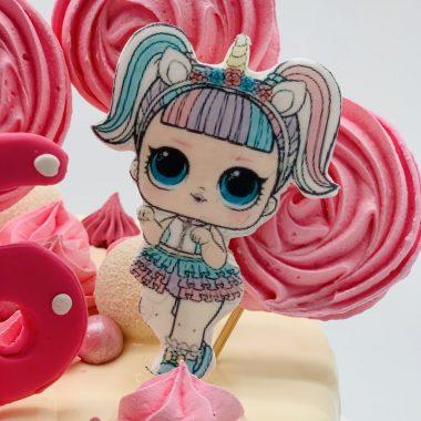 """Vaikiškas tortas """"Rožinė svajonė"""""""
