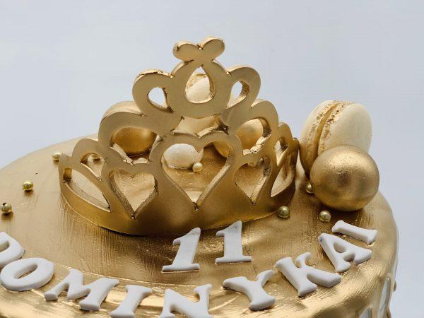 "Vaikiškas tortas ""Su auksine karūna"""