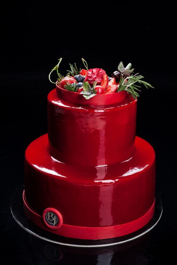 """Dviejų aukštų tortas """"Veidrodinis spindesys"""""""