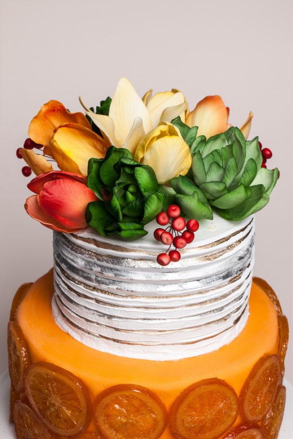 2 aukštų tortas su apelsinų šonais