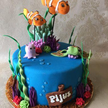 """Vaikiškas tortas """"Žuviukas Nemo"""""""