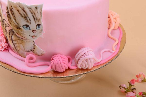 """Vaikiškas tortas """"Žaidžiantis katinukas"""""""