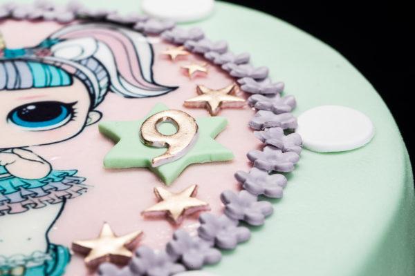 Vaikiškas tortas su LOL nuotrauka