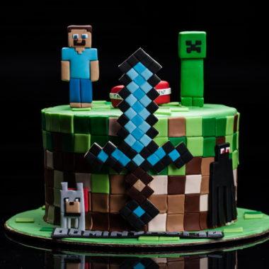 """Vaikiškas tortas """"Minecraft"""""""