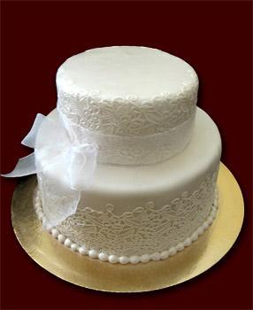 Dviejų aukštų tortas su Sugar Veil