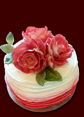 """Tortas """"Rausva rožė"""""""