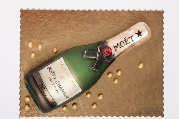 """Tortas """"Šampano butelis"""""""