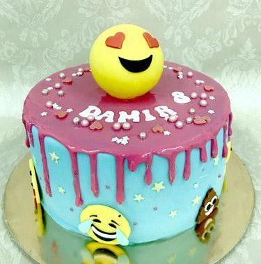 """Vaikiškas tortas """"Emodži"""""""