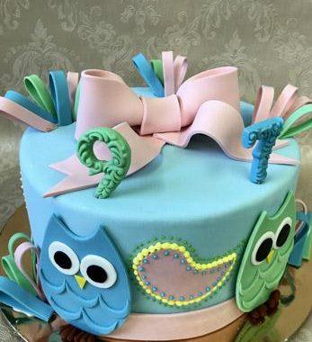"""Vaikiškas tortas """"Pelėdukai"""""""