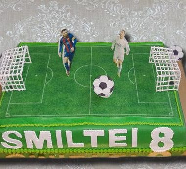 """Vaikiškas tortas """"Futbolo aikštė"""""""