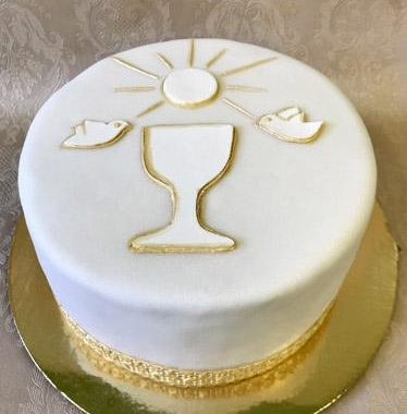 Komunijos tortas su taure