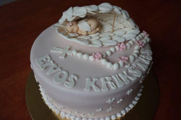 Krikštynų tortas su leliuku ir sparnais