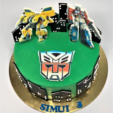 Vaikiškas tortas su transformeriais