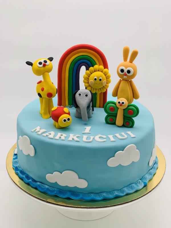 """Vaikiškas tortas """"Baby TV"""""""