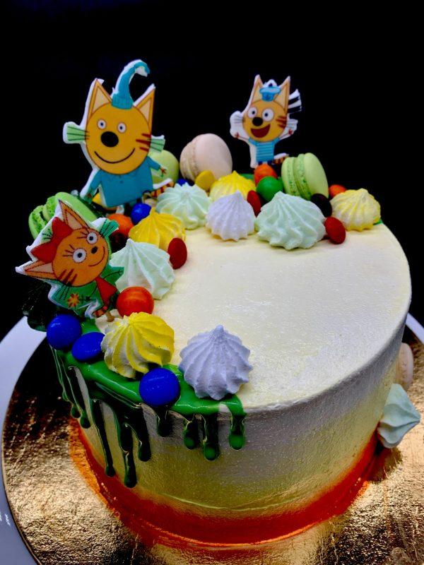 """Vaikiškas tortas  """"Trys katinukai"""""""