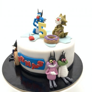 """Vaikiškas tortas """"Ogis ir draugai"""""""