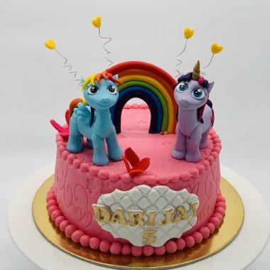 """Vaikiškas tortas """"Du lipdyti poniai"""""""