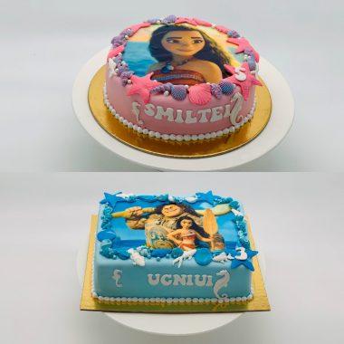 """Vaikiškas tortas """"Vajana ir Maujis"""""""