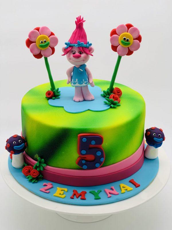 """Vaikiškas tortas """"Trolytė"""""""