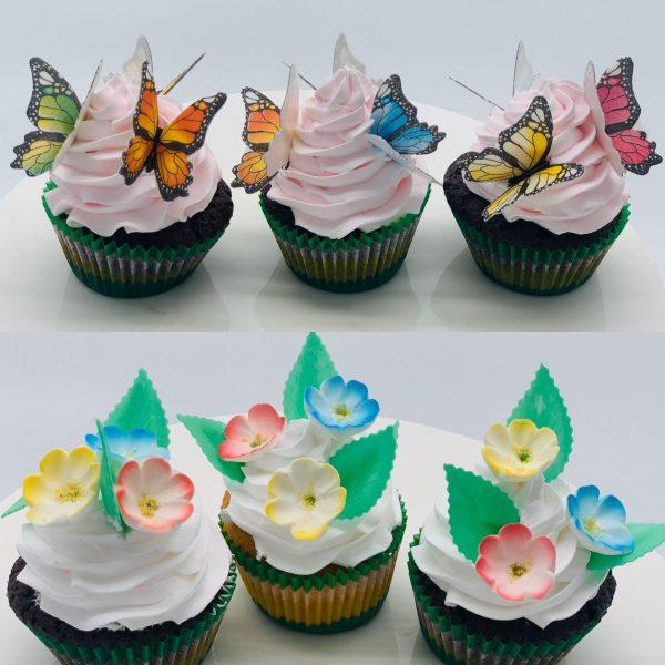 Keksiukai su drugeliais ir gėlytėm