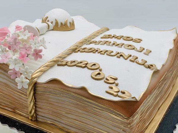 """Tortas """"Pirmosios komunijos knyga"""""""