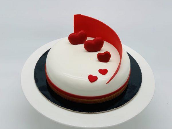 """Valentininis """"Pasiflorų"""" tortas"""
