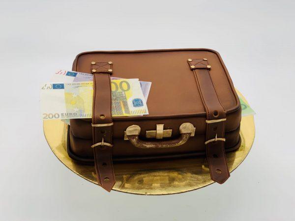 """Tortas """"Lagaminas su pinigais"""""""