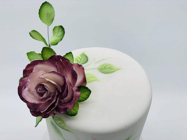 """Tortas """"Piešta rožė"""""""