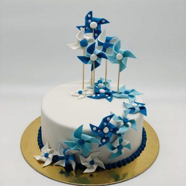 """Krikštynų tortas """"Su daug vėjo malūnėlių"""""""