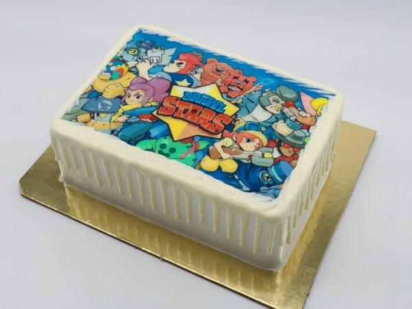 """Vaikiškas tortas """"Brawl Stars"""""""