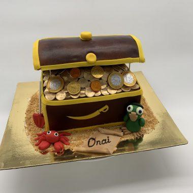 """Vaikiškas tortas """"Lobių skrynia"""""""