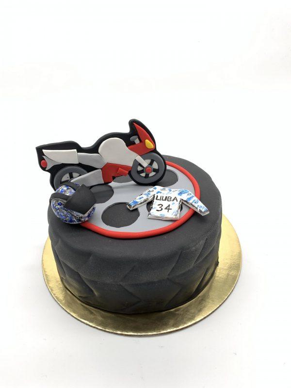 Vaikiškas tortas su motociklu