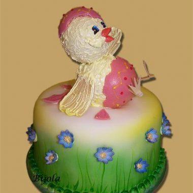 """Velykinis tortas """"Viščiukas"""""""
