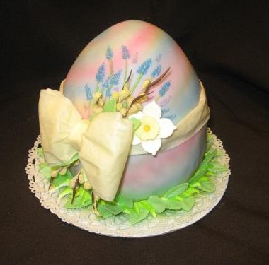 """Velykinis tortas """"Melsvas kiaušinis"""""""
