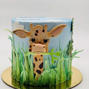 Vaikiškas tortas su žirafiuku