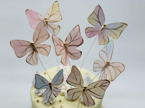 Tortas su drugeliais
