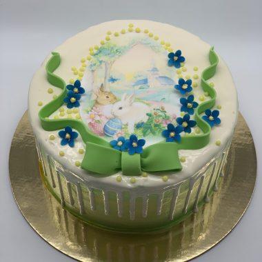 Velykinis tortas su piešiniu