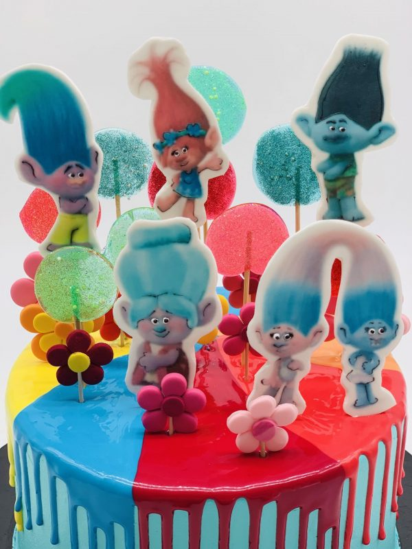 Vaikiškas tortas su troliais