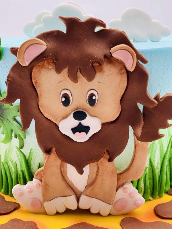 Vaikiškas tortas su liūtuku