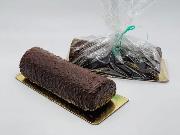 Keksas aplietas šokoladu