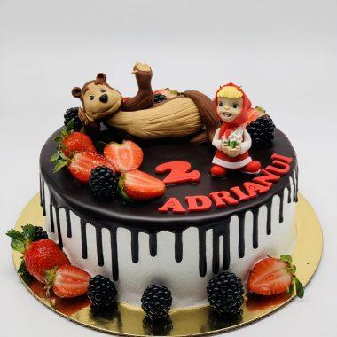 """Vaikiškas tortas """"Maša ir lokys"""""""