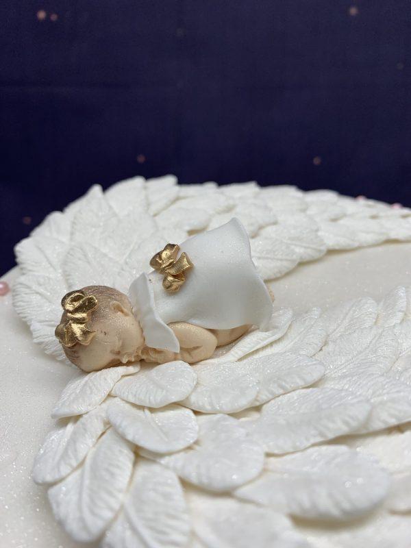 Krikštynų tortas su angelu