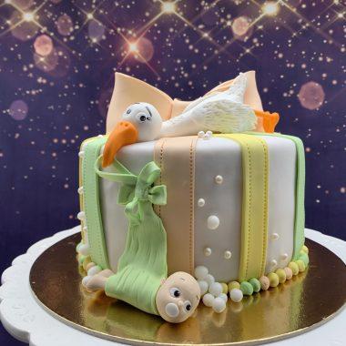 Tortas su gandru ir leliuku