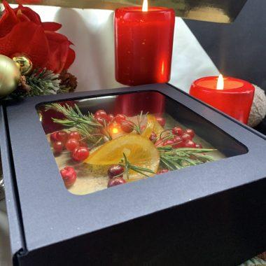 Kalėdinis aguoninis pyragas dėžutėje