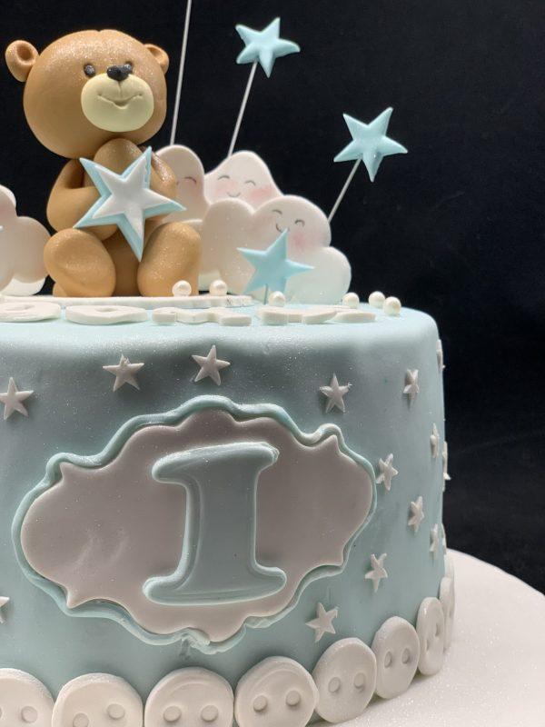 """Vaikiškas tortas """"Meškiukas debesyse"""""""