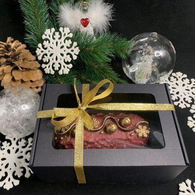 Kalėdinis keksas dėžutėje