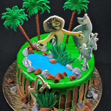 """Vaikiškas tortas """"Madagaskaras"""""""