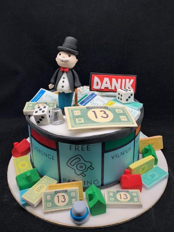 """Vaikiškas tortas """"Monopolis"""""""