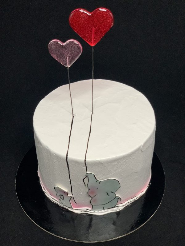 """Tortas """"Dvi širdelės"""""""